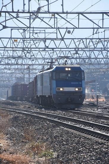 2020年12月27日撮影 東線貨物2083レ EH200-16号機 塩尻駅