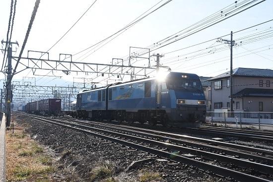 2020年12月27日撮影 東線貨物2083レ EH200-16号機 塩尻駅 ピカッ!