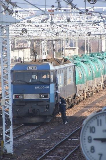 2020年12月29日撮影 南松本にて東線貨物2080レ機回し