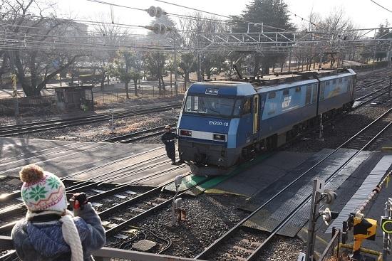 2020年12月29日撮影 南松本にて東線貨物2080レ機回し チビッ子カメラマン