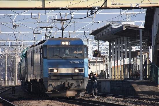 2020年12月29日撮影 南松本にて東線貨物2080レ機回し 無線機返却