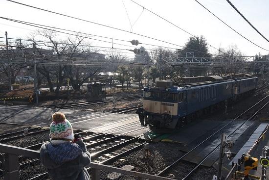 2020年12月29日撮影 南松本にて 西線貨物8084レ 機回し チビッ子カメラマン