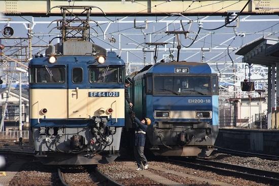 2020年12月29日撮影 南松本にて 西線貨物8084レ 機回し 無線機返却