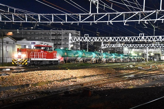 2021年9月18日撮影 西線貨物6089レの緑タキを牽くHD300-9号機