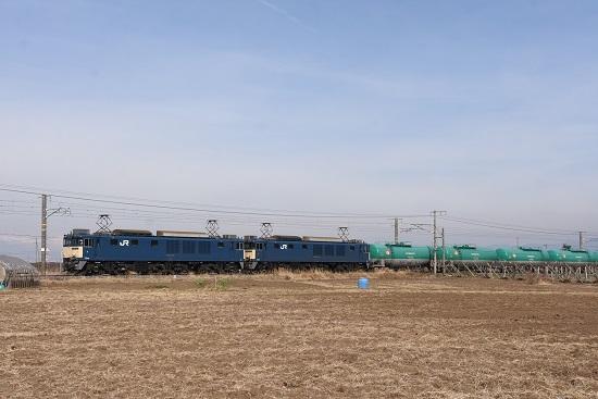 2020年12月29日撮影 西線貨物8084レ EF64-1021+1033号機
