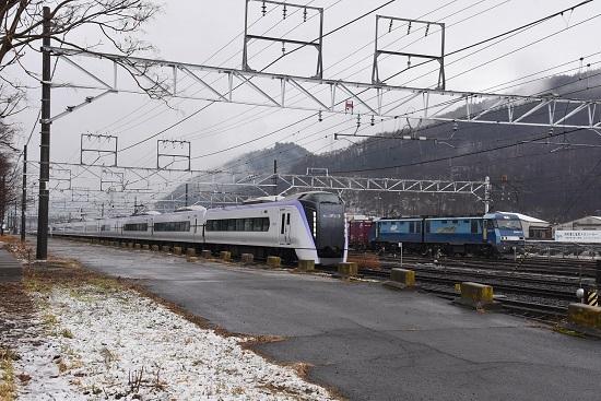 2021年3月13日撮影 東線貨物2083レ EH200-13号機とあずさ13号