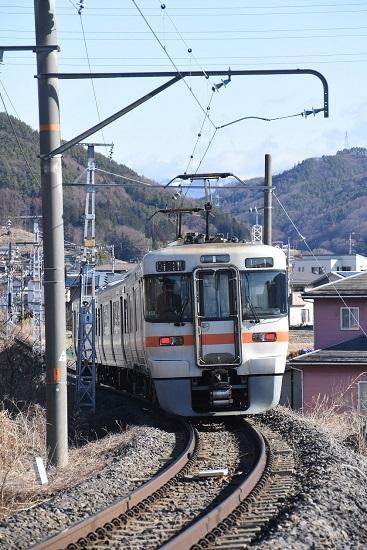 2021年3月14日撮影 飯田線 213M 313系1700番台 後撃ち