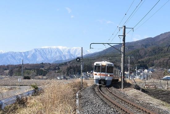 2021年3月14日撮影 飯田線 1510M 313系 中央アルプス