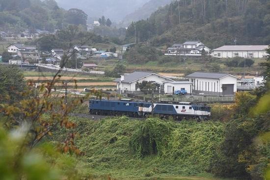 2020年10月17日撮影 篠ノ井線8467レ 坂北カーブを後撃ち