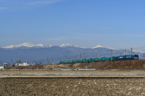 2020年12月27日撮影 東線貨物2080レ EH200-22号機 緑タキ10両