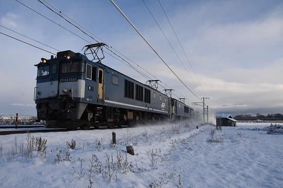 2020年12月31日撮影 西線貨物6088レ EF64-1046号機 広島更新色先頭