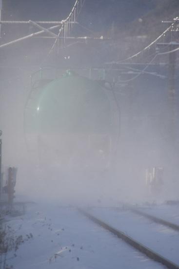2020年12月31日撮影 西線貨物6088レ 後撃ち 緑タキ ホワイトアウト