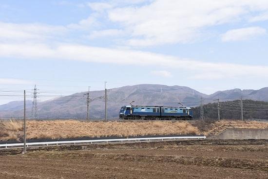 2021年3月20日撮影 東線貨物2083レ EH200-15号機の単機回送 みどり湖にて