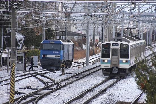 2020年12月31日撮影 東線貨物2080レ EH200-6号機 425M211系退避