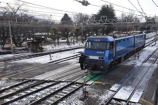 2020年12月31日撮影 東線貨物2080レ EH200-6号機 機回し