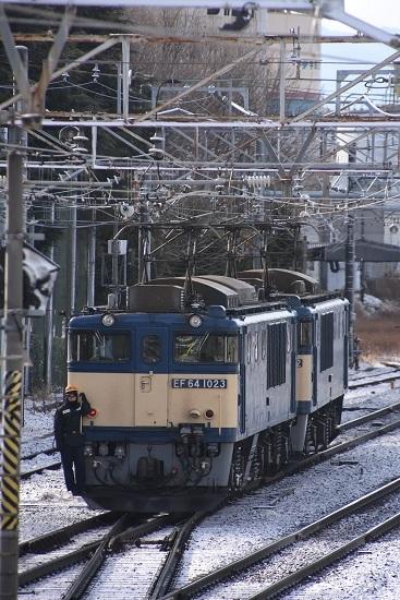 2020年12月30日撮影 南松本にて西線貨物8084レ 機回し 機回し中