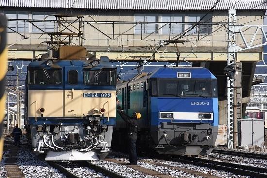 2020年12月30日撮影 南松本にて西線貨物8084レ 機回し 無線機返却