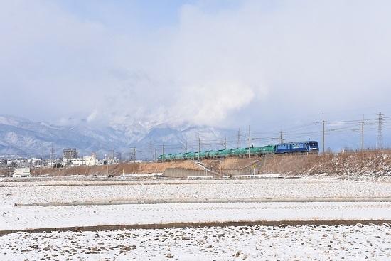 2020年12月31日撮影 東線貨物2080レ EH200-6号機 緑タキ10両
