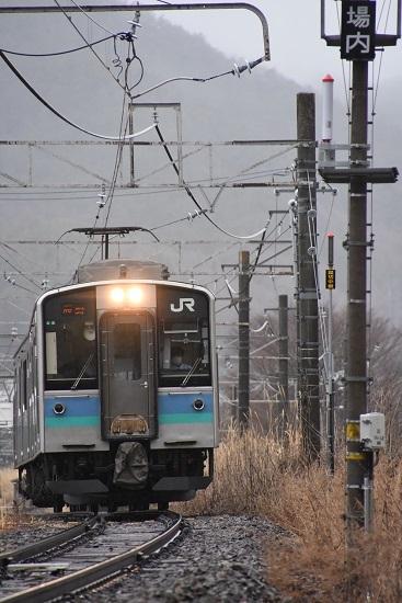 2021年3月21日撮影 辰野線は156M E127系 小野駅発車