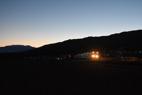 2020年10月18日撮影 飯田線 中央アルプスをバックにキヤ95 DR1編成