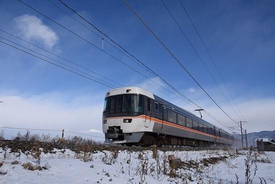 2020年12月31日撮影 中央西線 1008M 383系 WVしなの8号