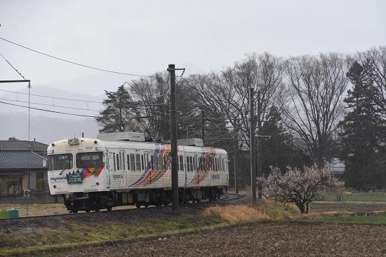 2021年3月21日撮影 アルピコ交通 3000系 松本山雅 梅の木と