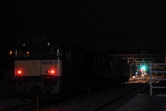 2021年1月1日撮影 9471レ EF64重連 坂北駅にて後撃ち