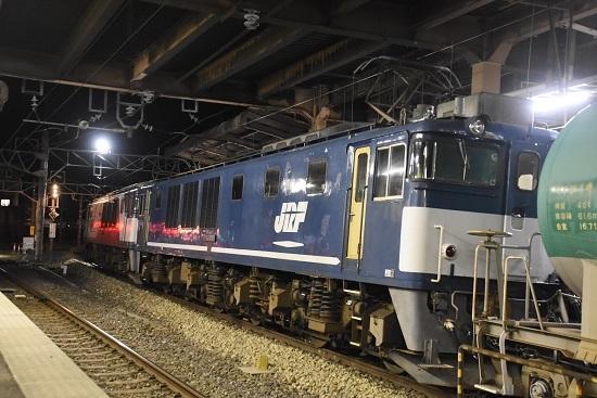 2021年3月24日撮影 西線貨物5880レ EF64-1046号機 塩尻駅停車