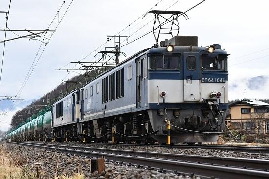 2020年12月30日撮影 西線貨物8084レ 先頭がEF64-1046号機 広島更新色 その2
