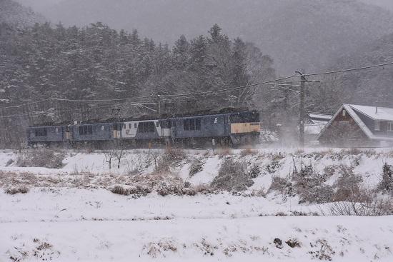 2021年1月1日撮影 篠ノ井線8467レ EF64-4重連 後撃ち