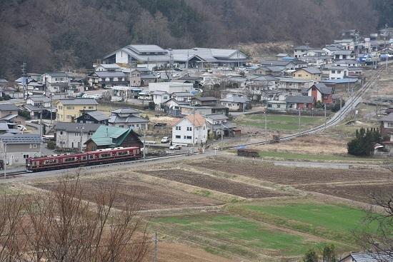 2021年3月28日撮影 上田電鉄別所線 6000系「さなだどりーむ号」 俯瞰撮影