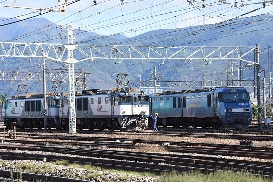 2020年10月24日撮影 南松本にて西線貨物8084レ 機回し開始