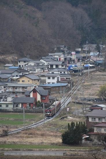 2021年3月28日撮影 上田電鉄別所線 6000系「さなだどりーむ号」 俯瞰撮影 国旗 日の丸と