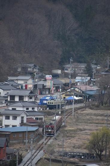 2021年3月28日撮影 上田電鉄別所線 6000系「さなだどりーむ号」 俯瞰撮影 モハ5250形と