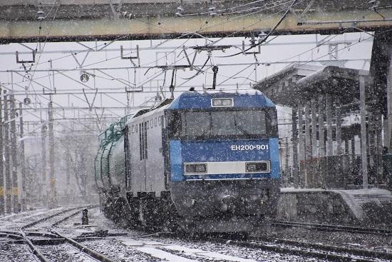2021年1月3日撮影 南松本にて 東線貨物2080レ EH200-901号機