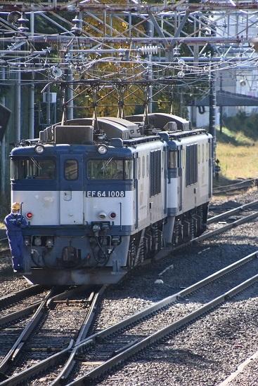 2020年10月24日撮影 南松本にて西線貨物8084レ 機回し 本線横断