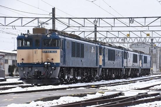 2021年1月3日撮影 塩尻機関区篠ノ井派出所 EF64-4重連組成済み