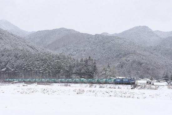 2021年1月3日撮影 篠ノ井線2084レ 冠着のカーブを行くEH200-15号機
