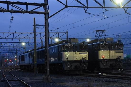 2021年4月3日撮影 南松本にて EF64-1047号機と1044号機の並び