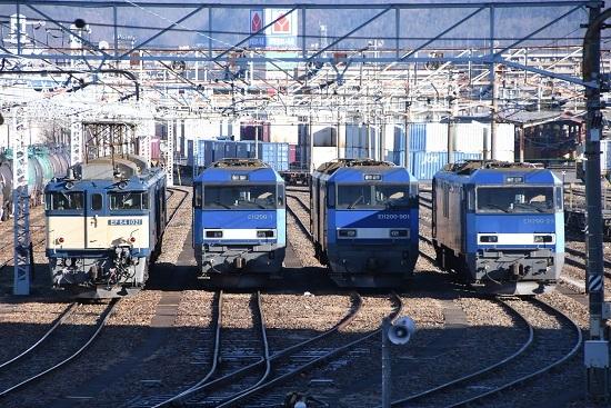 2021年1月4日撮影 南松本にて EF64-1021号機とEH200-1号機、901号機、23号機