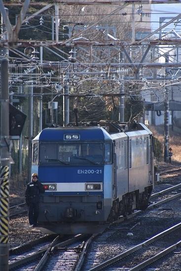2021年1月4日撮影 南松本にて東線貨物208レ EH200-21号機 機回し-2