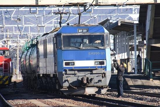 2021年1月4日撮影 南松本にて東線貨物208レ EH200-21号機 無線機返却