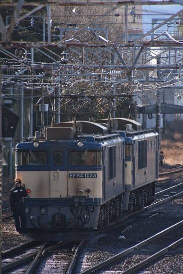 2021年1月4日撮影 南松本にて西線貨物8084レ EF64-1021+1033号機の機回し 3