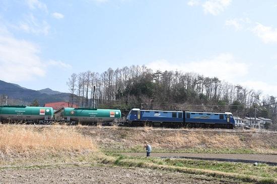 2021年4月3日撮影 篠ノ井線貨物2084レ EH200-21号機 坂北駅退避