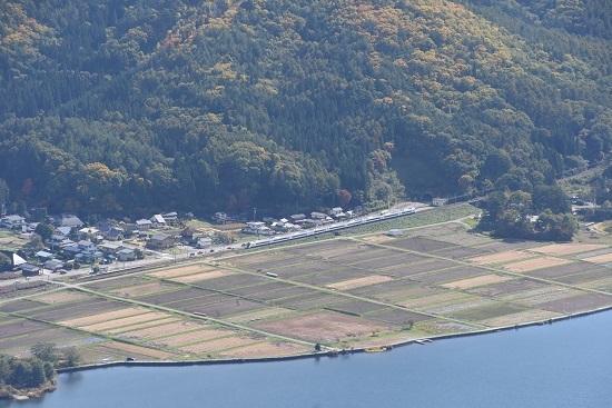 2020年10月25日撮影 大糸線は木崎湖俯瞰 5M E353系あずさ