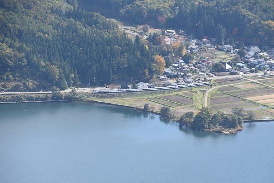 2020年10月25日撮影 大糸線は木崎湖俯瞰 5M E353系あずさ その2