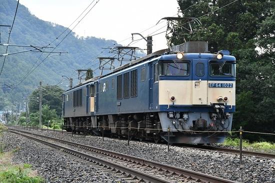 2020年10月3日撮影 篠ノ井線8467レ 田沢→明科 EF64原色重連