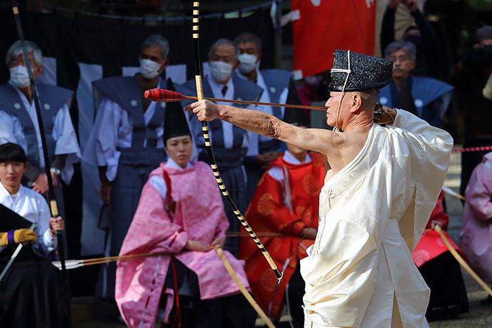 大和神社 御弓始祭2