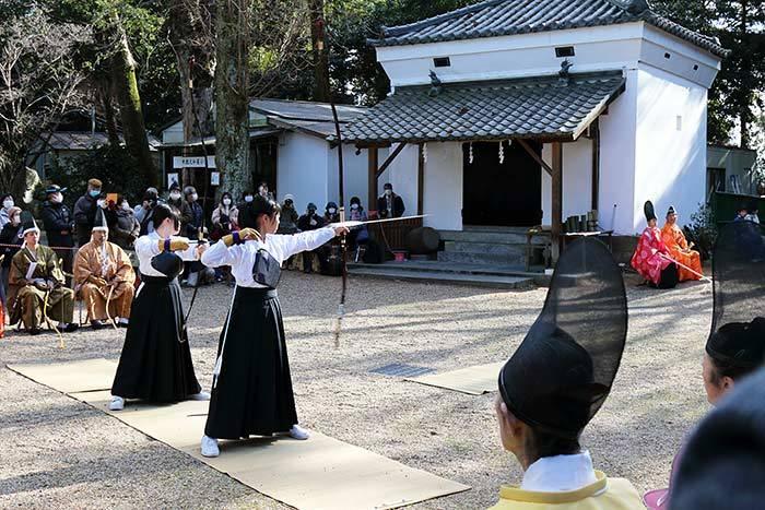 大和神社 御弓始祭4
