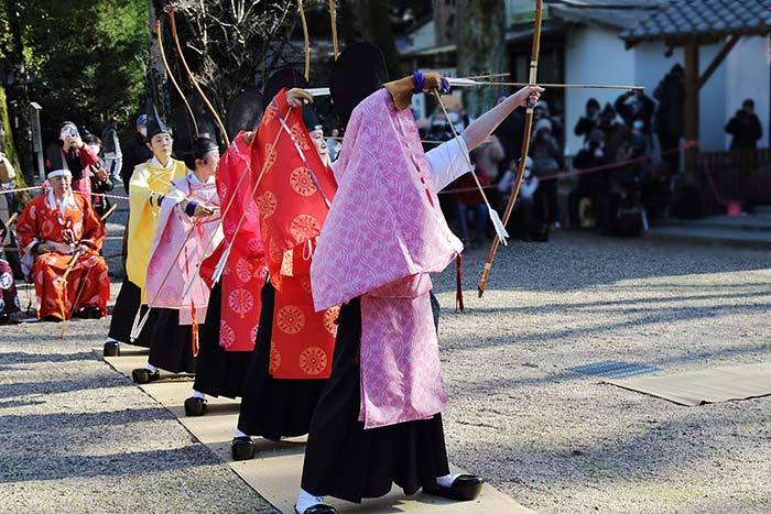 大和神社 御弓始祭7